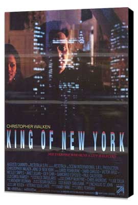 King of New York - 11 x 17 Movie Poster - Style B - Museum Wrapped Canvas