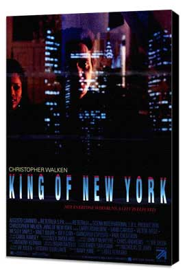 King of New York - 27 x 40 Movie Poster - Style B - Museum Wrapped Canvas
