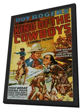 King of the Cowboys - 11 x 17 Movie Poster - Style A - in Deluxe Wood Frame