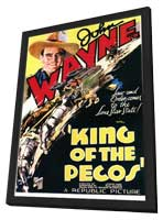 King of the Pecos - 11 x 17 Movie Poster - Style A - in Deluxe Wood Frame