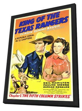 King of the Texas Rangers - 11 x 17 Movie Poster - Style A - in Deluxe Wood Frame