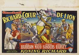 King Richard and the Crusaders - 11 x 17 Movie Poster - Belgian Style A