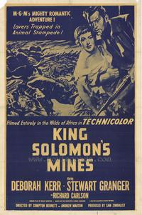 King Solomon's Mines - 27 x 40 Movie Poster - Style B