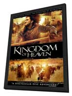 Kingdom of Heaven - 27 x 40 Movie Poster - Style D - in Deluxe Wood Frame