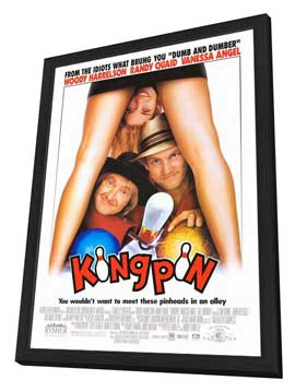 Kingpin - 27 x 40 Movie Poster - Style A - in Deluxe Wood Frame