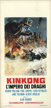 Kinkong l'Impero dei Draghi - 13 x 28 Movie Poster - Italian Style A
