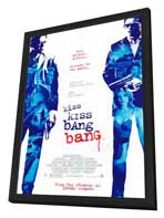 Kiss Kiss, Bang Bang - 27 x 40 Movie Poster - Style B - in Deluxe Wood Frame