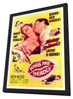 Kiss Me Deadly - 27 x 40 Movie Poster - Style A - in Deluxe Wood Frame