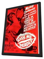 Kiss Me Deadly - 11 x 17 Movie Poster - Style B - in Deluxe Wood Frame