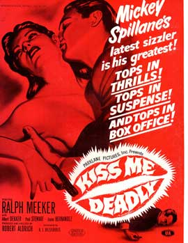 Kiss Me Deadly - 11 x 17 Movie Poster - Style B
