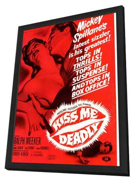Kiss Me Deadly - 27 x 40 Movie Poster - Style B - in Deluxe Wood Frame