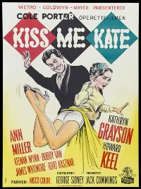 Kiss Me Kate - 11 x 17 Movie Poster - Danish Style A