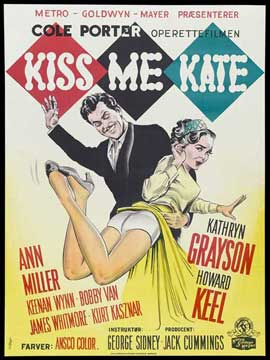 Kiss Me Kate - 27 x 40 Movie Poster - Danish Style A