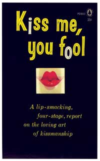 Kiss Me, You Fool - 11 x 17 Retro Book Cover Poster