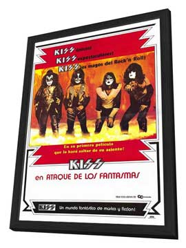 KISS Meets the Phantom of the Park - 27 x 40 Movie Poster - Spanish Style A - in Deluxe Wood Frame