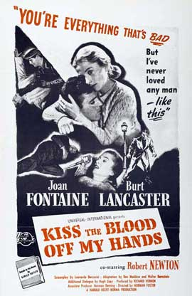 Kiss the Blood Off My Hands - 27 x 40 Movie Poster - Style A