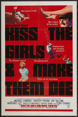 Kiss the Girls and Make Them Die - 27 x 40 Movie Poster - Style A