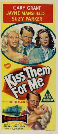 Kiss Them For Me - 14 x 36 Movie Poster - Insert Style A