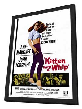 Kitten with a Whip - 27 x 40 Movie Poster - Style A - in Deluxe Wood Frame