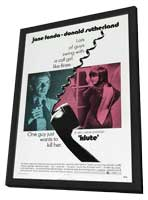 Klute - 27 x 40 Movie Poster - Style B - in Deluxe Wood Frame