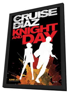 Knight and Day - 27 x 40 Movie Poster - Style E - in Deluxe Wood Frame