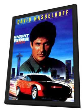 Knight Rider - 11 x 17 Movie Poster - Style B - in Deluxe Wood Frame