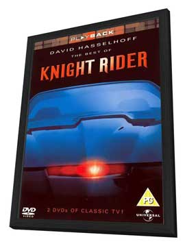 Knight Rider - 27 x 40 Movie Poster - UK Style A - in Deluxe Wood Frame