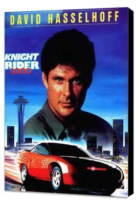 Knight Rider - 11 x 17 Movie Poster - Style B - Museum Wrapped Canvas