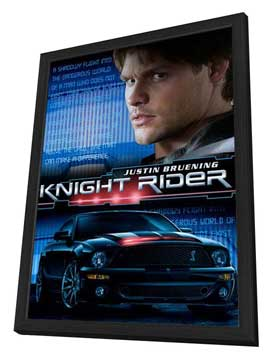 Knight Rider - 27 x 40 Movie Poster - Style A - in Deluxe Wood Frame