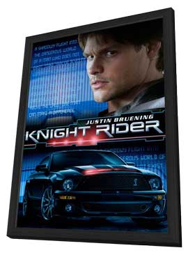 Knight Rider - 11 x 17 Movie Poster - Style A - in Deluxe Wood Frame