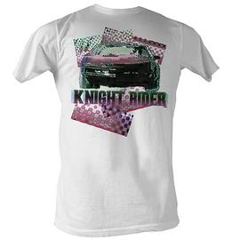 Knight Rider - Halftone White T-Shirt