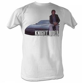Knight Rider - Mike and His KITT White T-Shirt