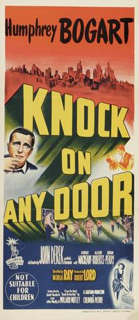 Knock on Any Door - 14 x 36 Movie Poster - Australian Style A