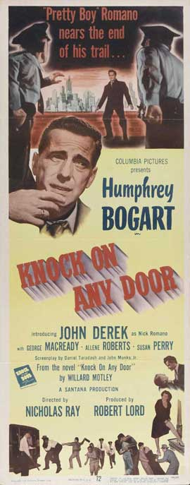 Knock on Any Door - 14 x 36 Movie Poster - Insert Style A