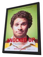 Knocked Up - 11 x 17 Movie Poster - Style A - in Deluxe Wood Frame