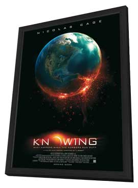 Knowing - 11 x 17 Movie Poster - Style A - in Deluxe Wood Frame