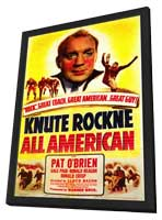 Knute Rockne All American - 11 x 17 Movie Poster - Style A - in Deluxe Wood Frame