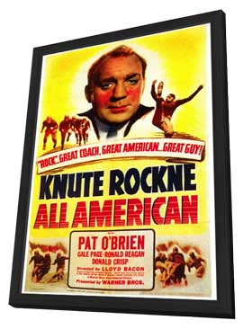 Knute Rockne All American - 27 x 40 Movie Poster - Style A - in Deluxe Wood Frame