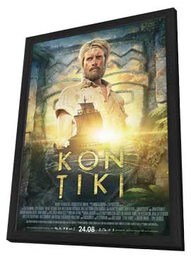 Kon-Tiki - 11 x 17 Movie Poster - Norwegian Style A - in Deluxe Wood Frame