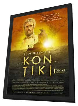 Kon-Tiki - 27 x 40 Movie Poster - German Style A - in Deluxe Wood Frame