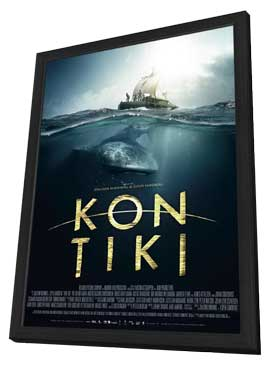 Kon-Tiki - 27 x 40 Movie Poster - Norwegian Style C - in Deluxe Wood Frame