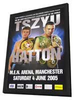 Kostya Tszyu vs Ricky Hatton - 11 x 17 Boxing Promo Poster - Style A - in Deluxe Wood Frame
