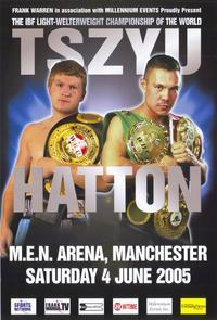 Kostya Tszyu vs Ricky Hatton - 11 x 17 Boxing Promo Poster - Style A