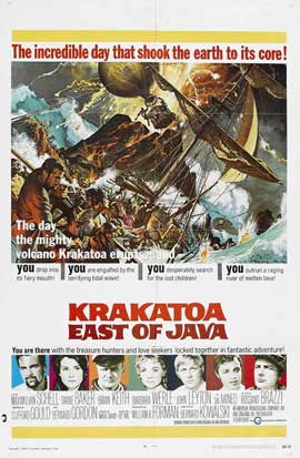 Krakatoa, East of Java - 11 x 17 Movie Poster - Style B