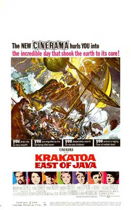 Krakatoa, East of Java - 14 x 22 Movie Poster - Window Card
