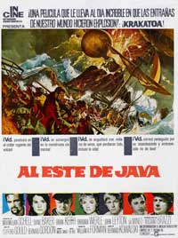 Krakatoa, East of Java - 27 x 40 Movie Poster - Spanish Style B