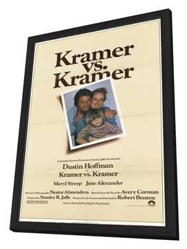 Kramer vs. Kramer - 11 x 17 Movie Poster - Style A - in Deluxe Wood Frame