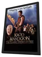 Krod Mandoon and the Flaming Sword of Fire (TV) - 11 x 17 TV Poster - Style A - in Deluxe Wood Frame