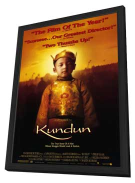 Kundun - 11 x 17 Movie Poster - Style A - in Deluxe Wood Frame