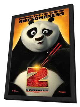 Kung Fu Panda 2 - 11 x 17 Movie Poster - Style A - in Deluxe Wood Frame